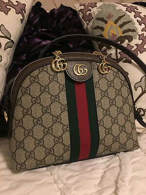 2226440d6a9932 GUCCI ❤ OPHIDIA Small GG Square Shoulder Bag Monogram Canvas ...