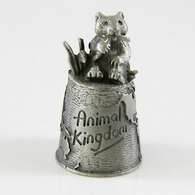 Schöner Zinn Fingerhut Pandabär #Beautiful tin thimble panda bear Animal Kingdom