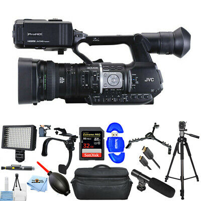 JVC GY-HM620 ProHD Mobile News Camera Pro 32GB LED Light Microphone Case Bundle