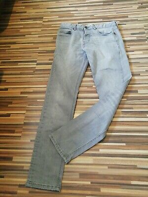 Great Condition Mens Next Grey 32R Skinny Leg Stretch Denim Jeans W32 L31