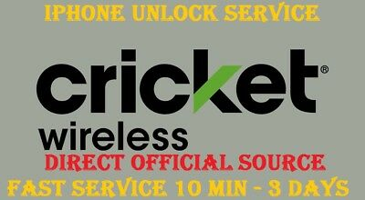 Cricket Iphone Unlock  Service 5 5S 6 7 8 X Clean And Active Other Account