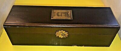 The Wine company Vintage Handcrafted wooden Wine Bottle Box with Velvet inlay