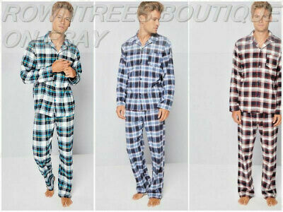 304204ab88c6d8 Mens Loungewear Checked Soft Flannel 100% Cotton Pyjama Set Large Xlarge