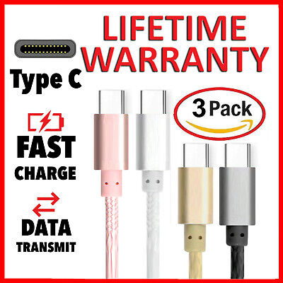 3x Fast Samsung Galaxy S10 / S9 S8 Plus Type C USB-C Sync Charger Charging Cable