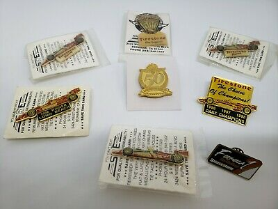 Vintage Indianapolis 500 & Firestone Hat Pins Lot of 9 (A2)