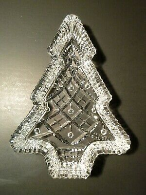 *VINTAGE* Waterford Crystal Christmas XMAS TREE Candy Serving Tray 7 3/4""
