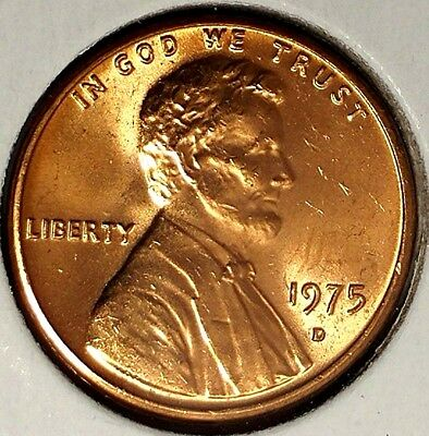1975-D 1C Lincoln Memorial Cent 17ws0209  BU Only 50 Cents for Shipping*