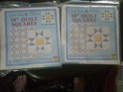 Set of 2 jack Dempsey Patchwork Star Stamped Embroidery Quilt Blocks