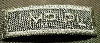 """Canadian Army Combat Tab Unit Badge  Insignia  """"1 Mp Pl""""  4 For $1 Mix & Match"""