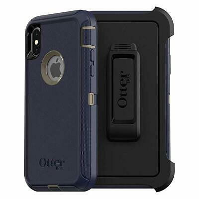 #100-2  OTTERBOX Defender Series Screenless Edition Case for iPhone X/Xs-DK Blue