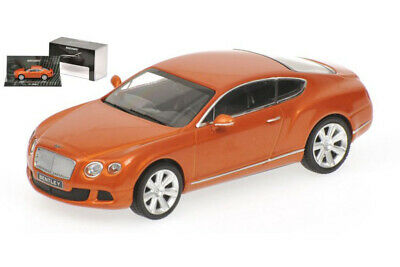 Minichamps 436139981 1:43 BENTLEY CONTINENTAL GT 2011 ORANGE METALLIC LIMITED ED