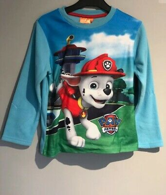 Official Nickelodeon Paw Patrol Boys Full Length Pyjamas Blue Size 6 Years