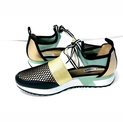 90928f38043 STEVE MADDEN WOMEN'S Arctic Silver Cutout Athletic Sneakers Shoes ...