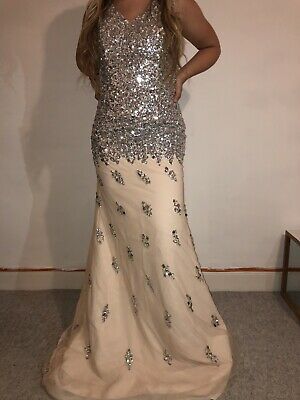 1ab9c9c5b8d4 Hebeos prom dress uk size 8 Brand New without labels Nude, Pink, Silver