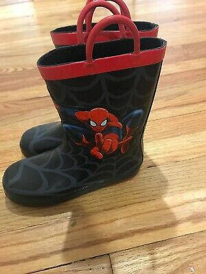 NWT Disney store Boy Shoes Spiderman Rain Boots Marvel Avengers Many sizes