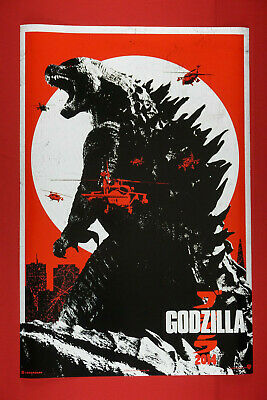 Godzilla King of the Monsters Vintage Red Black 2019 Movie Poster 24X36 New GRED