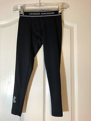 faf365ff6c Boys Kids Black Under Armour Coldgear Leggings Base Layer Pants Size Youth  XS