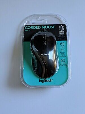 LOGITECH M500 TILT Wheel Corded USB Mouse with 1000 DPI