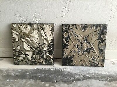 Two Vintage Antique Tin Ceiling Tiles Architectural Salvage Olde Good Things