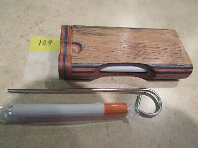 "4"" Wooden Dugout & 3"" Aluminum Bats - Beautiful Color And Detail - Veteran Owned"
