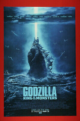Godzilla King of the Monsters Flames Ships 2019 Movie Poster 24X36 New GZ19