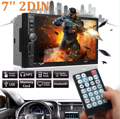 "7"" inch Double 2 DIN Car MP5 Player Bluetooth Touch Screen Stereo Radio FM 7012B"