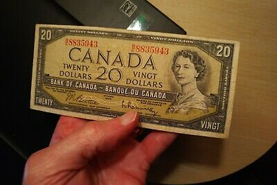 1954 $20 Dollar Bank of Canada Banknote WE8835943
