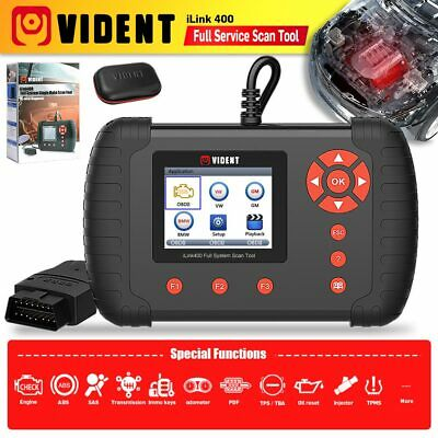 VIDENT iLink400 Full System Scanner For ABS/SRS/EPB/DPF Oil Reset Update Online