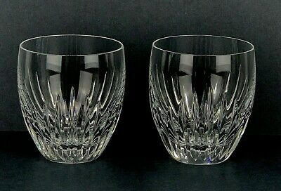 "Set of 2 Baccarat France Crystal Massena Old Fashioned Rock 4"" Glass Mint Stamp"