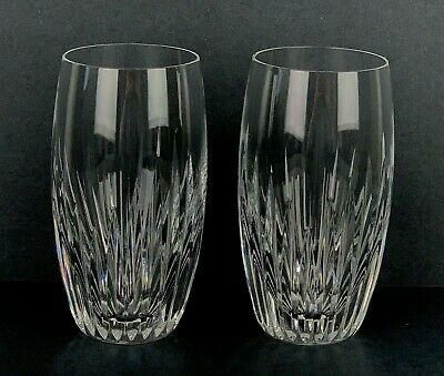"Set of 2 Baccarat France Crystal Massena Highball Barrel 5.5"" Glasses Mint Stamp"