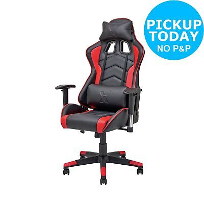 X-Rocker Height Adjustable Office Gaming Chair - Black/Red