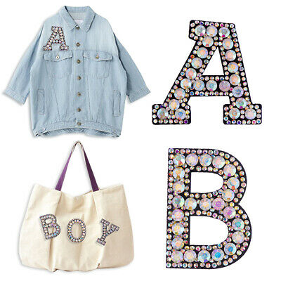 A-Z Letter Patch Patches Iron on / Sew on Retro Alphabet Embroidery Clothes HOT