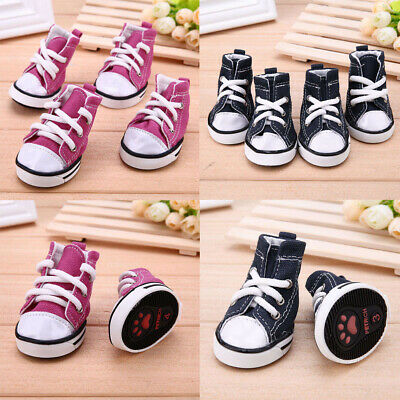 Hot 4Pcs Waterproof Pet Non-slip Shoes Spring Summer Dog Cat Boots Puppy Booties