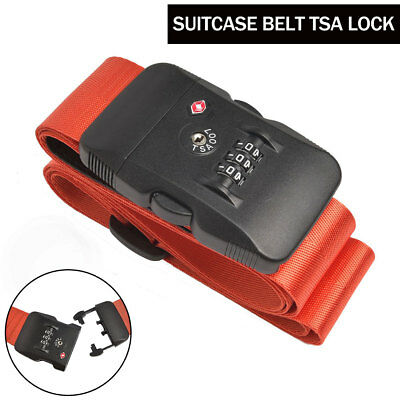 Adjustable Suitcase Cross Luggage Strap With Safe Lock Baggage Belt Travel Bag