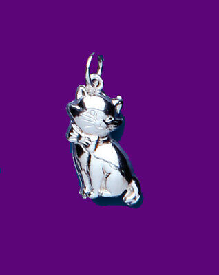 "Cat Pendant Sterling Silver 925 Hallmark Pet Jewellery 14-30"" Chain"
