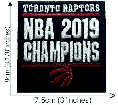 2019 NBA Finals Toronto Raptors Logo Champions Jersey Patch Iron On Kawhi Sew