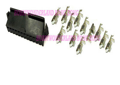 30 SET JST SM 2.5mm 12-Pin Female Connector Housing Plug with crimp contact pin