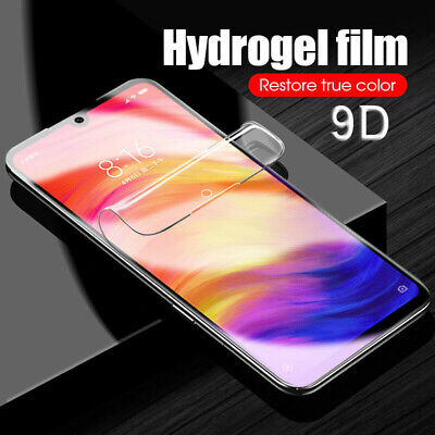 9D Hydrogel Film Full Cover Back Screen Protector For Xiaomi Mi 8 9 Redmi Note 7