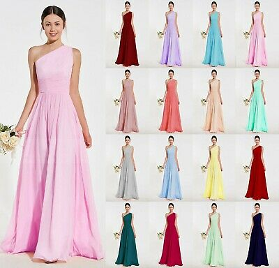 Formal Chiffon Long Wedding Bridesmaid Dresses Party Ball Prom Gown Dresses 6-24
