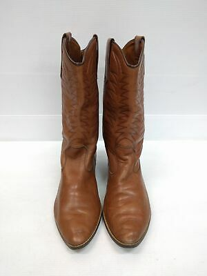 Size 42 Vintage Ladies Brown Western Cowgirl Cowboy Rock Leather high boots
