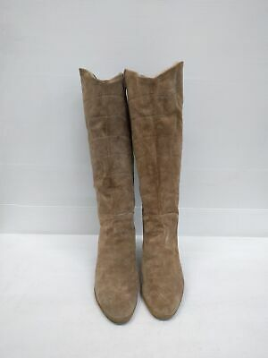 Size 8 Vintage Ladies 70s Classic Suede Leather Zip Up high leather boots