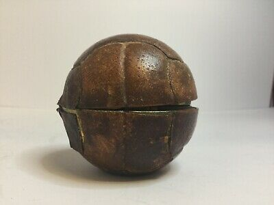 RARE Novelty Vedette German Alarm Clock In Form Of Leather Football - Working
