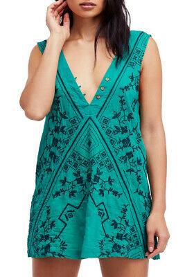 5e8bf627d819 Free People Womens Sweetest Shifty OB799649 Dress Slip Eucalyptus Green  Size XS