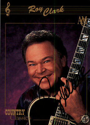 Roy Clark  Signed IPA IN PERSON AUTOGRAPHED TRADING CARD ED3316