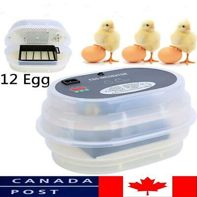 AUTOMATIC EGG INCUBATOR Chicken Incubator 12 EGG Incubators