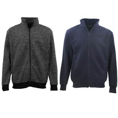 Adult Unisex Plain Fleece Lined Full Zip Up Jumper Jacket Men's Sweatshirt Coat
