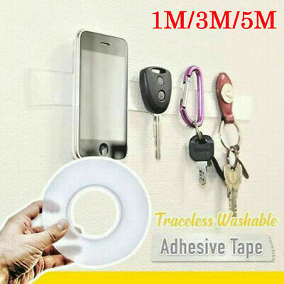 Double-Sided Adhesive Grip Tape Traceless Washable Removable Tape Invisible Gel