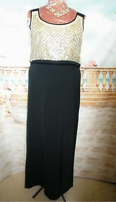 Phase Eight Dress Size 18  Collection 8 Fiorella Black/Sequin Ballgown/Long/Maxi