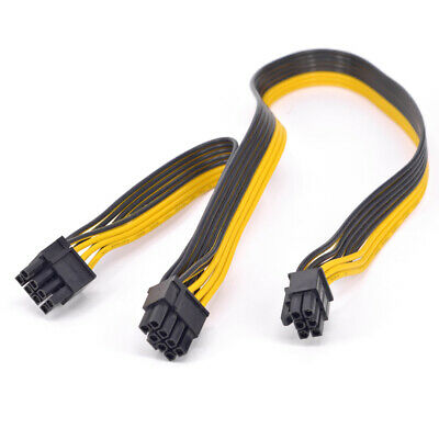 PCI-e GPU 6Pin to Dual 8pin Power supply Extension Cable 2 port 8P to 6P 16AWG