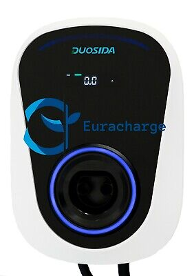 Single pfase Fast Charging point station 32A 7kw Tethered Type2 EV Charger